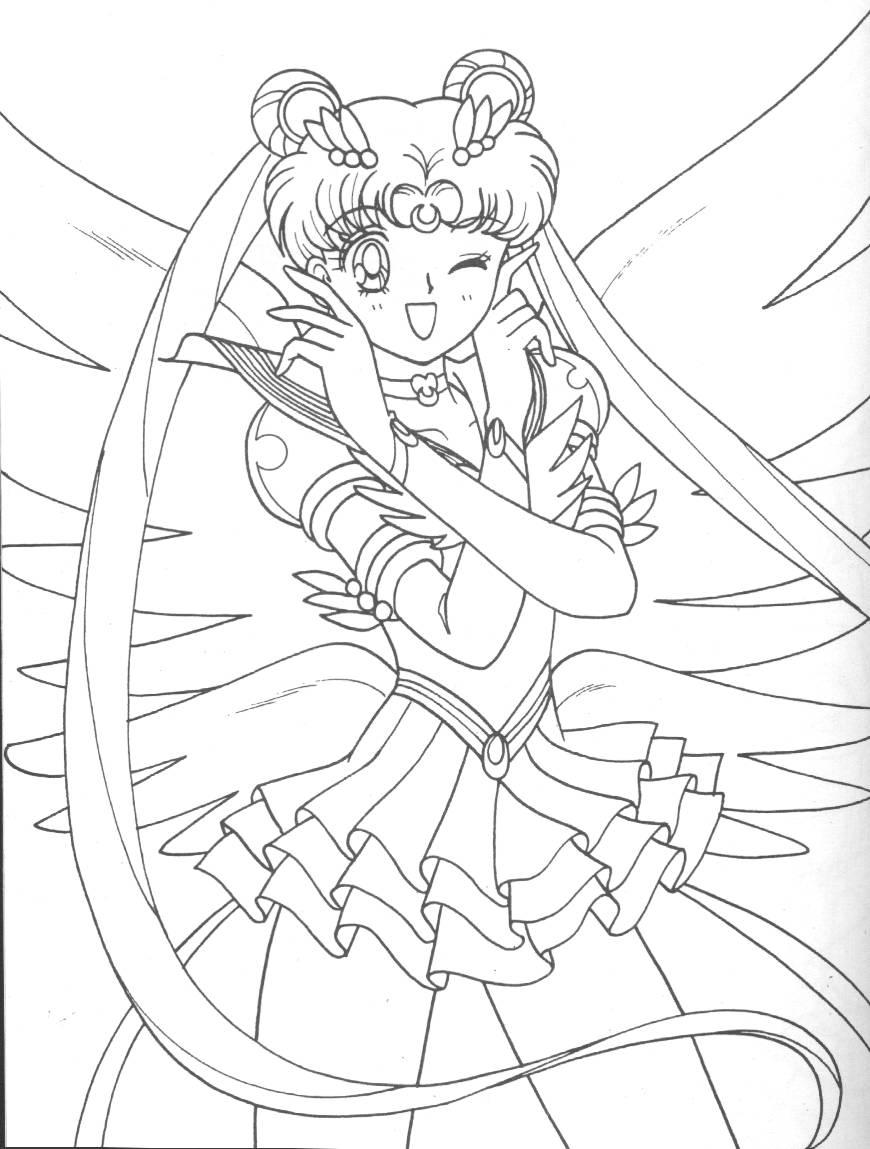 Sailor moon coloring book serial scans