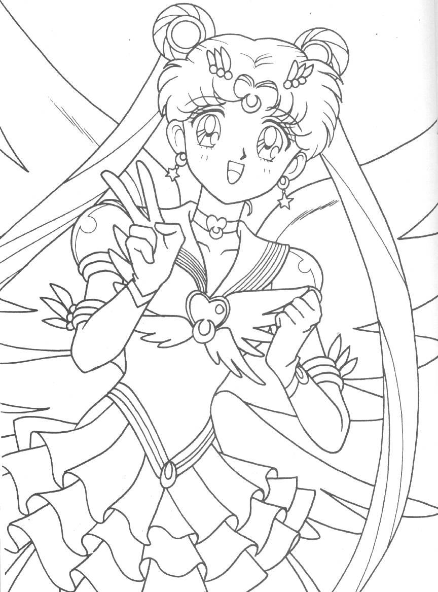 Sailor Moon Coloring Book Serial